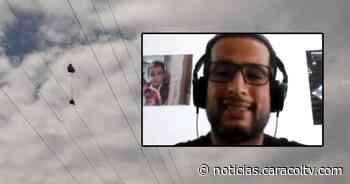 """""""Viví para contarlo"""": parapentista que se enredó en cuerdas de alta tensión contó cómo lo rescataron - Noticias Caracol"""