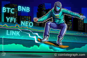 Top 5 cryptocurrencies to watch this week: BTC, BNB, NEO, YFI, LINK - Cointelegraph