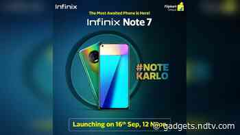 Infinix Note 7 Gets Dedicated Flipkart Page Ahead of September 16 Launch