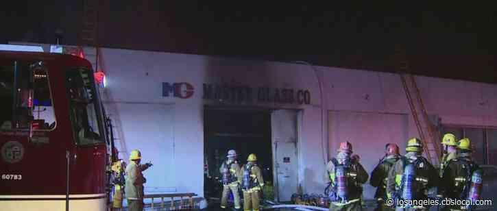 Fire Tears Through Pico-Union Commercial Building