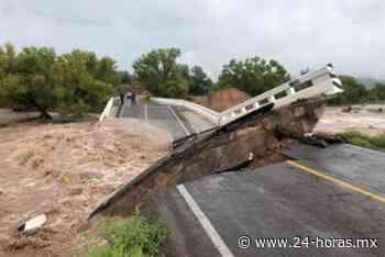 Puentes Buenavista y San Antonio colapsan tras fuertes lluvias en Durango (+fotos+video) - 24 HORAS