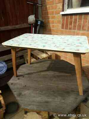 Vintage Wood Childs Fold Up Play Table