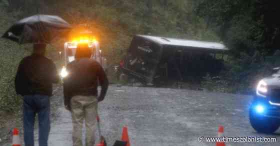 Province funds upgrade of Bamfield Road, a year after fatal bus crash - Times Colonist