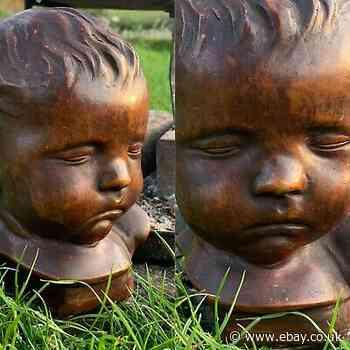 Antique Victorian 19th Century Baby Death Mask