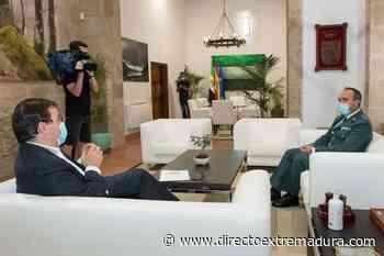 Vara se reúne en Mérida con el teniente coronel jefe de la Comandancia de Badajoz - Directo Extremadura