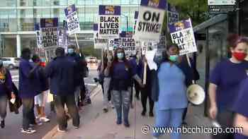 UIC Healthcare Workers Join Nurses on Picket Line During Strike