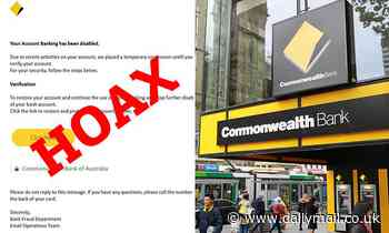 Commonwealth Bank issues urgent warning to its customers about a realistic email scam