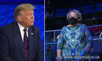 Donald Trump says WAITERS don't like wearing masks as voter asks him who he doesn't wear one