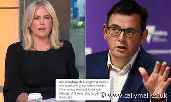Sam Armytage takes a sly dig at Dan Andrews and his lockdown as she defends Australians