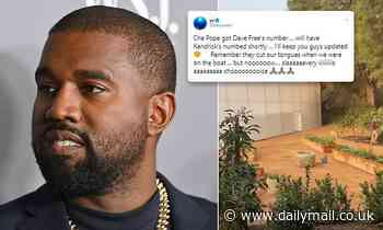 Kanye West states'slavery is a choice' as he shares video of wall he is building around LA mansion