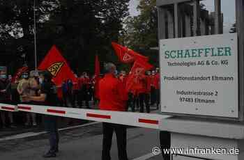 Schaeffler: Mitarbeiter protestieren in Hirschaid gegen Stellenstreichungen