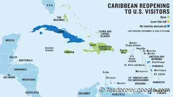Updated: The latest Caribbean travel protocols for U.S. visitors, mapped