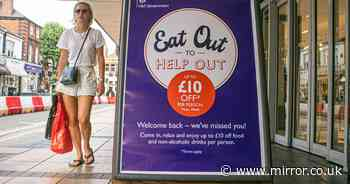 Inflation at its 'lowest in years' as Brits claim 100m Eat Out to Help Out meals