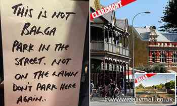 Brutal car parking note sees feud erupt over affluent and working class suburbs