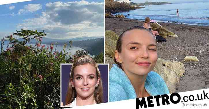 Killing Eve star Jodie Comer braves freezing dip in the sea as she enjoys rare getaway to Ireland