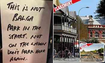 Brutal car parking note sees feud erupt over affluent and battler suburbs
