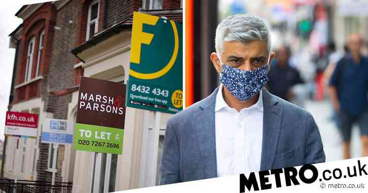 Rent could be frozen for two years in London if Sadiq Khan gets his way