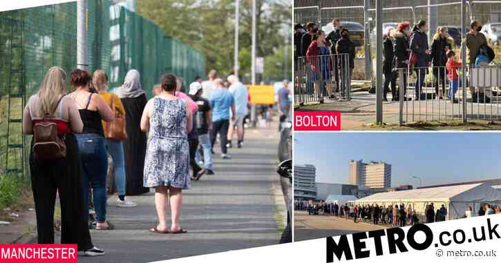 People have started queuing for tests at A&E as doctors urge people to stay away
