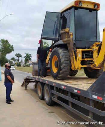 Retroescavadeira furtada em Ecoporanga é recuperada pela Policia Civil - Colatina em Ação