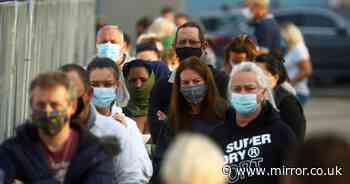 Huge queues at coronavirus testing facility as thousands struggle to book online