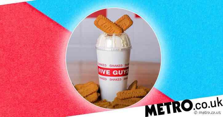 Five Guys has just launched a Lotus Biscoff milkshake