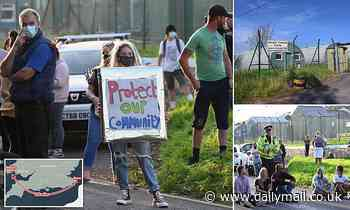 Protest over plan to turn ex-military base in Wales into camp for 250 asylum seekers