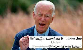 Scientific American backs Joe Biden in first ever endorsement