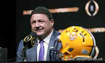 LSU football coach Ed Orgeron says 'most' of his team has already caught COVID-19