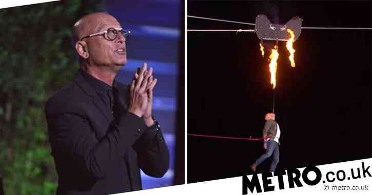 America's Got Talent judge Howie Mandel 'terrified' by fiery daredevil semifinals act