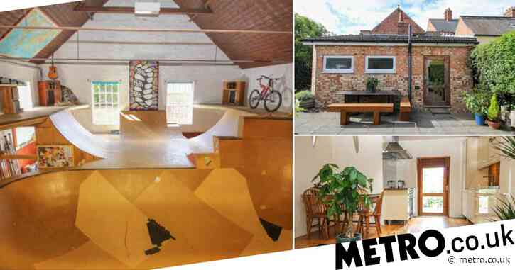 £240k Norfolk home that looks totally normal outside hides massive skate park inside