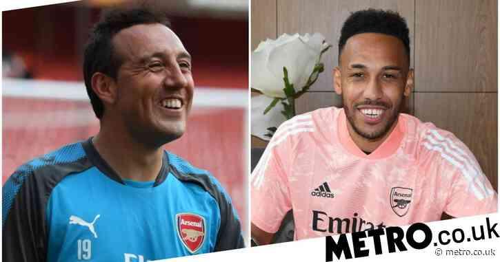 Santi Cazorla congratulates Pierre-Emerick Aubameyang over new Arsenal contract