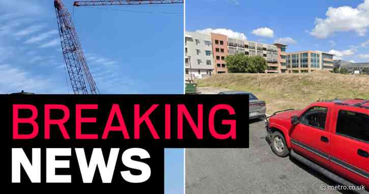 '22 injured' after construction cranes collide and collapse