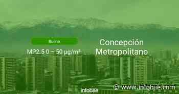 Calidad del aire en Concepción Metropolitano de hoy 16 de septiembre de 2020 - Condición del aire ICAP - infobae