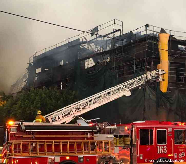 Boy Detained After Greater-Alarm Fire Rips Through East LA Housing Project Under Construction