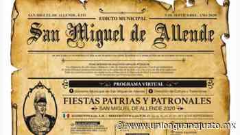 Programa fiestas patrias y patronales San Miguel de Allende 2020 en PDF - Unión Guanajuato