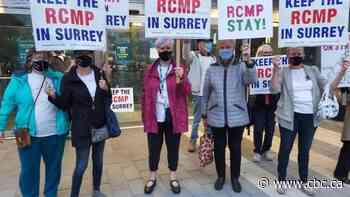 Surrey residents who want to keep RCMP in city are blocked from voicing concerns to police board