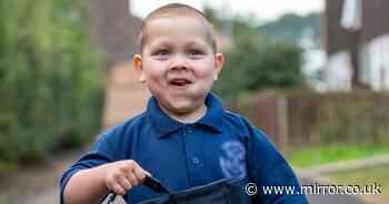 Boy who beat leukaemia twice starts first day at school after marrow transplant