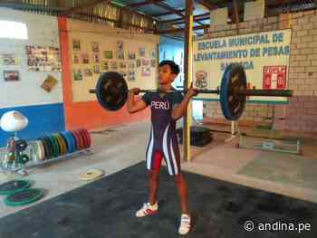 Nol Ríos entrena en Saposoa con miras al Mundial de Pesas Sub-17 online - Agencia Andina