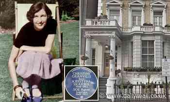 Blue plaque honour for Winston Churchill's favourite spy Christine Granville