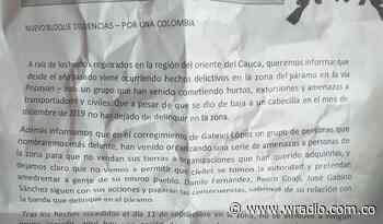 Amenazan a tres líderes campesinos en Totoró, Cauca - W Radio