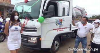 Empresa carpio hace entrega de camión compactador adquirido por municipio de Chazuta - VIA Televisión