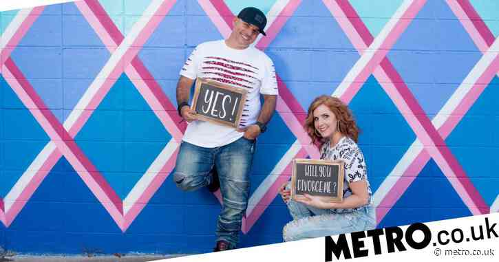 Couple who split amicably have a divorce photoshoot and vow to co-parent successfully