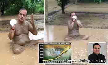 Indian politician who claimed bathing in mud prevented Covid tests positive