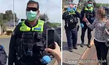 Four cops surround a driver on his driveway in front of wife and baby to speak him over social media