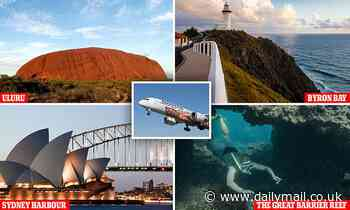 Qantas launches $787 'boomerang flight' over tourist sites - and it sells out in 10 minutes