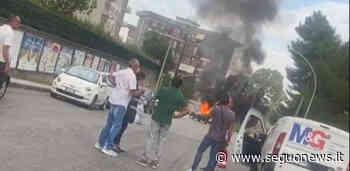 Caltanissetta, auto prende fuoco mentre è in marcia: paura in via Turati - Seguo News - SeguoNews