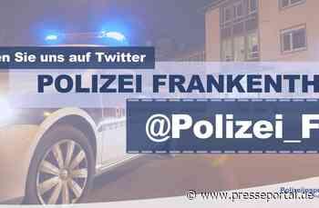 POL-PDLU: Frankenthal - Zwei Personen mit nicht versichertem E-Scooter unterwegs