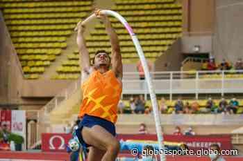 Na Alemanha, Thiago Braz faz sua melhor marca do ano com salto de 5,82m e fica com o bronze - globoesporte.com