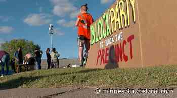 Planned Protest Against New 3rd Police Precinct Turns Into Block Party, After Protesters Get Their Way - CBS Minnesota