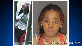 Robbery Suspect Tiara Baker Sought After Evading Police In Downtown Baltimore Tuesday - CBS Baltimore
